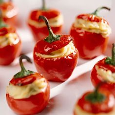 Fiery Stuffed Cherry Pepper Appetizers | MyRecipes.com