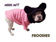 French Bulldog Boston Terrier Pug Dog Froodies Hoodies Minnie Sweatshirt Coat #FroodiesHoodies