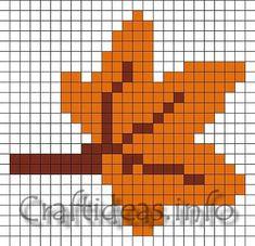 Craft Pattern - Fuse Beads or Perler Toadstool Mushroom