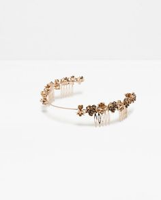 Image 1 of FLORAL RIGID HAIRBAND from Zara