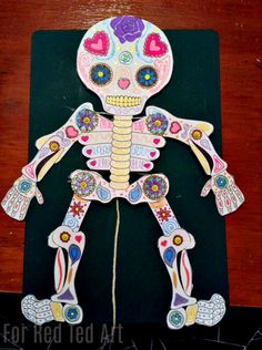 Our Day of the Dead Paper Puppets are for everyone - whether you are young or old.. join in with the creative fun. Download our free Skeleton Printable and customise your own Day of the Dead Paper Puppet!