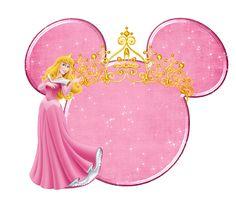 Disney Princess and Mickey Heads Aurora Disney, Disney Diy, Princesa Disney Aurora, Mickey Mouse Head, Mickey Y Minnie, Disney Frames, Autograph Book Disney, Disney Clipart, Disney Cartoon Characters