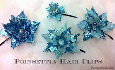 Poinsettia Hair Clips | @PluckingDaisy #TimHoltz #Sizzix #RangerInk #Tutorial