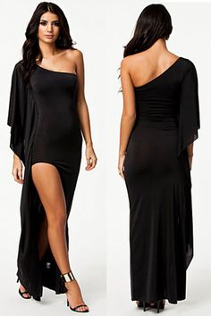 Cheap One-Shoulder Draped Black Evening Dress online - All Products,Fashion Dresses,Evening Dresses Evening Dresses Online, Black Evening Dresses, Sexy Dresses, Evening Gowns, Nice Dresses, Casual Dresses, Fashion Dresses, Stunning Dresses, Dress Online