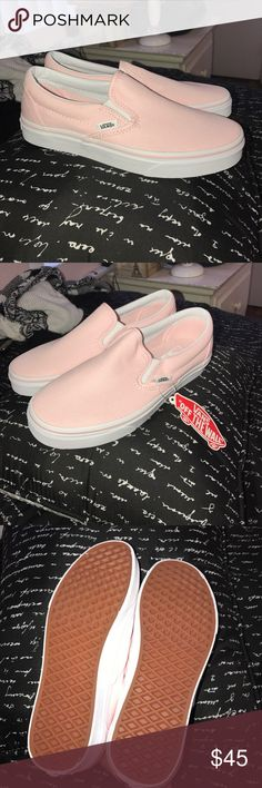 NEW Pink Slip On Vans new! never used Vans Shoes Sneakers