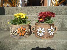 Slab Pottery, Ceramic Pottery, Pottery Art, Ceramic Art, Concrete Garden Ornaments, Concrete Crafts, Hobbies And Crafts, Earthenware, Terracotta
