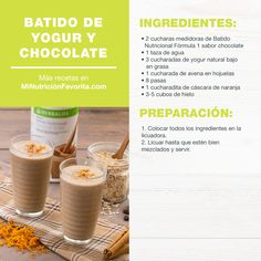 Comidas Herbalife, Herbalife Recipes, Herbalife Nutrition, Healthy Nutrition, Nutrilite, Amway Products, Smoothies, Breakfast, Tips