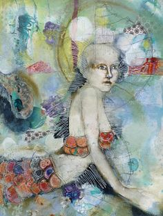 Fractured Angelics mixed media artist Kate Thompson
