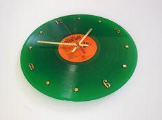 GREEN DAY Green Vinyl Record Clock Warning by RecordsAndStuff, $38.00
