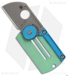 "Spyderco Panchenko Dog Tag Folder Slip Joint Knife (1.22"" Bead Blast) C188ALTIP"
