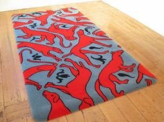 balance , rhythm , emphasis , value, contrast Nz Art, Rugs On Carpet, Carpets, Red Dog, Wool Rug, Textiles, Kids Rugs, Pattern, Contrast
