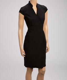 Black Wrap Dress Calvin Klein Dresses For Work Formal