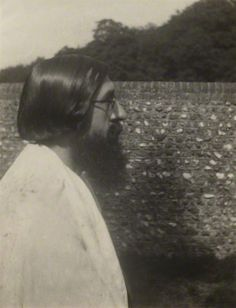 Lytton Strachey, photographed by Vanessa Bell, 1913.