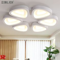 of simple modern living room lamps LED Lamps lighting lamp decoration personalized flower type iron bedroom lamp warm