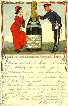 Weinstuben Kempinski, Berlin - signiert Fritz Schön, 1906.