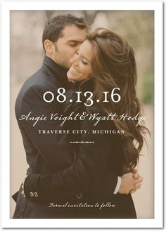 Clear Beauty - Signature White Photo Save the Date Cards - Float Paperie - White…
