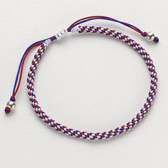 £15.00 'Best Of British' friendship bracelet.   Fly the flag for friendship with this woven silk and sterling silver bracelet.
