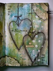 Heart mixed media Remember to add neutral colors into your backgrounds.