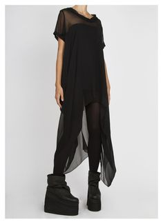 Complex geometries black dress / top