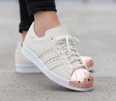 Find Adidas Original Superstar Metal Toe Rose Gold online or in Airyeezyshoes. Shop Top Brands and the latest styles Adidas Original Superstar Metal Toe Rose Gold at Airyeezyshoes. Adidas Shoes Women, Nike Women, Adidas Shoes Gold, Adidas Sneakers, Adidas Outfit, Shoes Sneakers, Cute Shoes, Me Too Shoes, Pretty Shoes