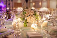 centerpieces - white roses