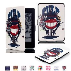 KH-MALL Kindle Paperwhite Case, Cartoon Leather Cover with Auto Wake/Sleep Fits All 2013 and 2015 Versions+Free Screen Protector (Black Anime) Kindle Paperwhite Case, Kindle Case, Amazon New, Screen Film, Tasmanian Devil, Leather Cover, Pu Leather, Amazon Kindle, Protective Cases