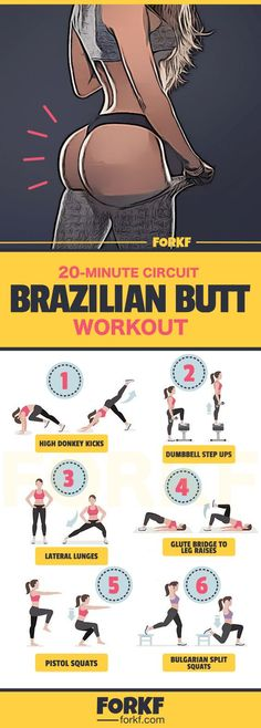 20 Minute Brazilian Butt  Workout | Posted By: CustomWeightLossProgram.com