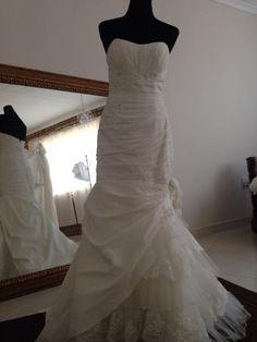 Mermaid designer wedding dress ivory and lace