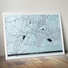 FREE SHIPPING WITHIN EU AND USA  We love minimal design and minimal interiors. Our posters and prints will tell you that. We also love city maps. Cold schemes of this poster are perfect for cold interiors. Get if personalized if needed. Head to Etsy for details.    #cityposter #cityprint #wallart #walldecor #homedecor #homedesign #minimalisticwallart #moderninteriordesign #coldinterior #coldcolors Map Wall Art, Map Art, Poster Wall, Minimalist Poster Design, Minimal Design, Staircase Wall Decor, Personalized Posters, Map Of New York, City Maps