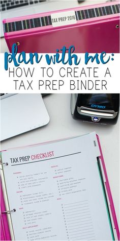 Plan with Me: How to Create a Tax Prep Binder - A Grande Life - Finance tips, saving money, budgeting planner Small Business Bookkeeping, Small Business Tax, Llc Business, Business Education, Business Advice, Small Business Organization, Binder Organization, Organizing Paperwork, Tax Deductions