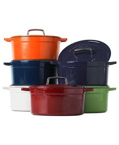 Martha Stewart Collection Collector's Enameled Cast Iron Round Casserole (6 qt) $149.99 Green Apple