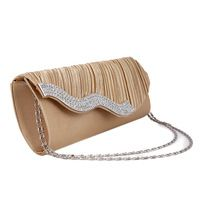 New Fashion Women's Satin Party Evening Bags Purse Ladies Handbag Wedding Prom Evening Clutch with Shoulder Chain Free Shipping