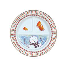 Mackenzie-Childs Enamel Child's Snowman Sectional Plate  | $16.50