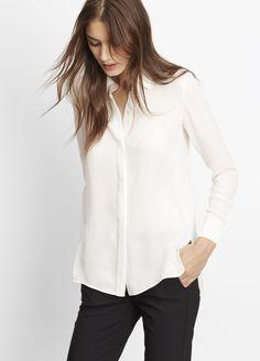 Classic Silk Long Sleeve Button Up