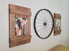 Rustic Wooden 8x10 Picture Frame, Rustic Frame, Clothespin Picture Frame, Wooden…