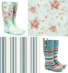 Floral Boots and wallpaper combination Floral Boots, Snow Boots, Rubber Rain Boots, Wallpaper, Shoes, Design, Fashion, Moda, Snow Boots Outfit