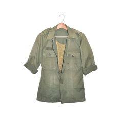 Vintage Womens Army Shirt Jacket Military by founditinatlanta
