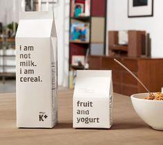 #declarative #packaging - #typographic #design: not milk, cereals