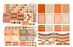 Erin Condren Planner Stickers, October Planner Stickers, Life Planner Decorative Stickers, Planner Accessory Kit, ECLP October Sticker Kit