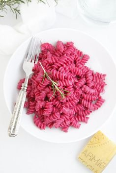 Girls would freak over pink pasta!! Pasta with Creamy Roasted Beet Sauce. Worth a try. I love beets and I am always trying to find a recipe with hidden/no texture veggies.