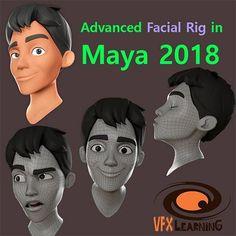 Advanced Facial Rig in Maya 2018 – VFX-LEARNING
