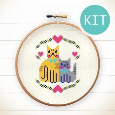 Cats - Cross Stitch KIT