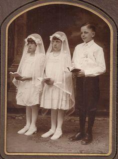 First Communion Photograph Children Boy Girls Hazleton Pennsylvania PA Vintage | Collectibles, Photographic Images, Vintage & Antique (Pre-1940) | eBay!