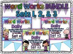 Word Works Daily BUNDLE: Sets 1, 2 & 3 (Smartboard & Print