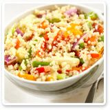 Chomp on a yummy quinoa salad    Never tried quinoa? It's a rich source of protein that's delicious in salads like this.