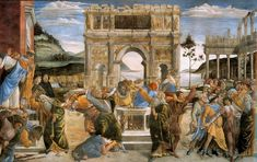 Botticcelli, Sandro - The Punishment of Korah and the Stoning of Moses and Aaron - 1481-82 - サンドロ・ボッティチェッリ - Wikipedia