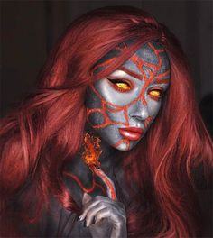 Are you ready for the idea of Halloween makeup looks? let's take a look at the best Halloween make-up we have. All Halloween costumes are included. Beautiful Halloween Makeup, Cat Halloween Makeup, Masque Halloween, Halloween Eyes, Halloween Makeup Looks, Happy Halloween, Face Paint Makeup, Cat Makeup, Makeup Art