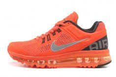 Nike Air Max 2013 Womens Orange Black Gray Running Shoes