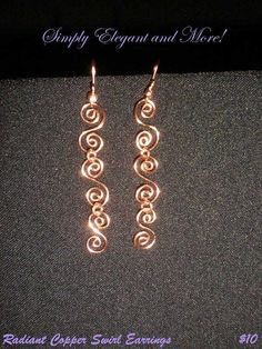 Radiant Copper Swirl Earrings by SimplyElegantandMore on Etsy, $10.00