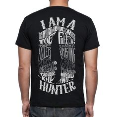 I AM A HUNTER T shirt design.